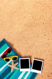 Photos instantanées sur une plage