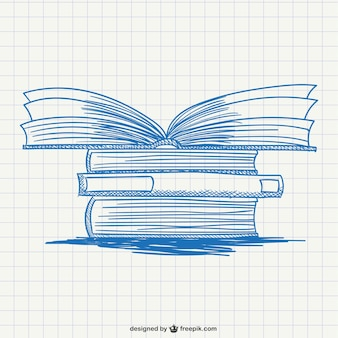 Pile de livres de dessin