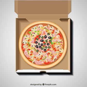 Pizza dans la boîte