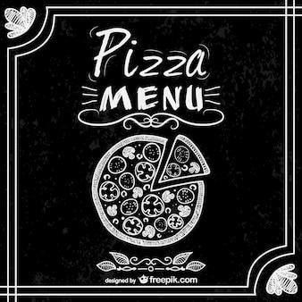 Pizza menu de restaurant vecteur libre