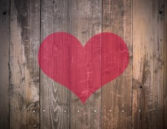 Planche rétro valentine bureau décoration