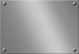 Plaque de métal peint