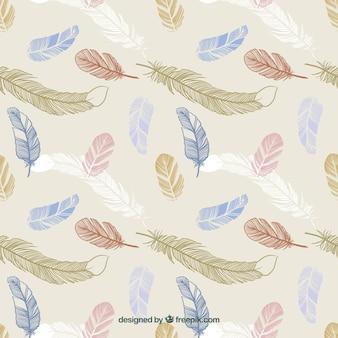 plumes dessinés à la main
