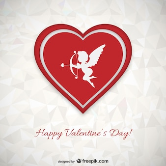 Polygonale carte de Saint-Valentin