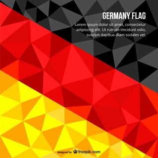 Polygonale drapeau allemand