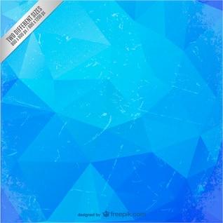 Polygonale fond bleu