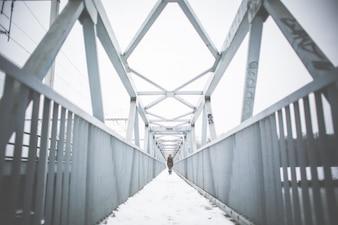 Pont métallique Perspective