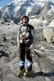 Portrait d'alpiniste