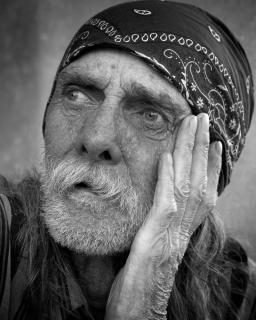 portrait sans-abri, a vécu