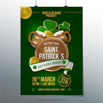 Affiche pour la saint patrick jour