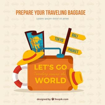Préparez vos bagages voyageant