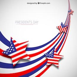 Présidents day background