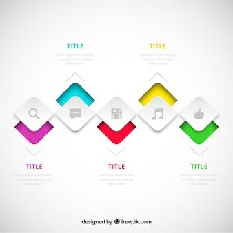 Processus infographie dans un style moderne