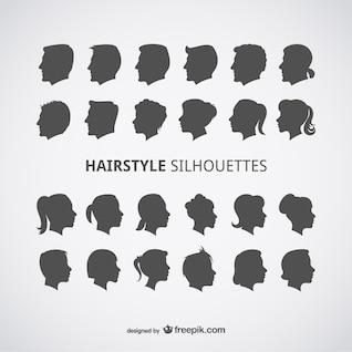 Profils coiffures vecteur ensemble