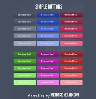 propres boutons de téléchargement nettes emballer psd