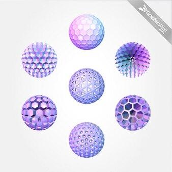 Sphères pourpres graphiques vectoriels