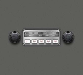 Radio réplique détaillée sur la voiture antique