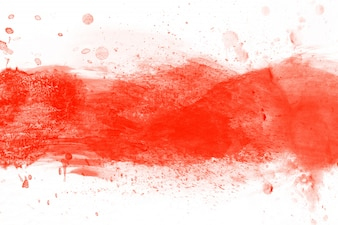 Red blot aquarelle