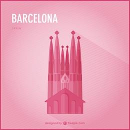 Repère vecteur barcelona