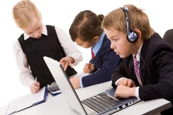 Réseau d'affaires de travail d'équipe de l'enfance mode de vie