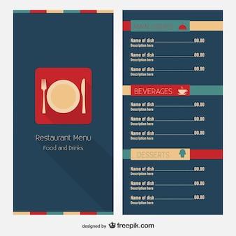 Menu de restaurant de conception de mise en page libre