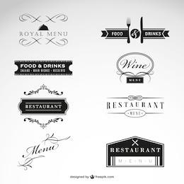 Restaurant vecteur collection de