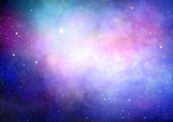 Résumé de fond de l'espace avec la nébuleuse colorée