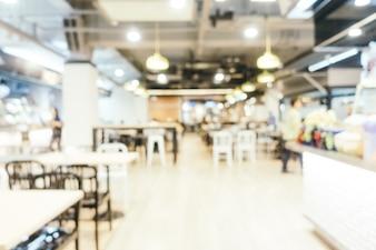 Résumé du flou et défocused food court centre des grands magasins