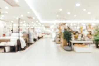 Résumé flou et defocused centre commercial de départements magasin intérieur