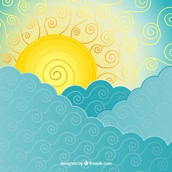 Résumé mer et du soleil fond