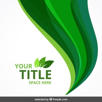Résumé ondulée éco fond vert