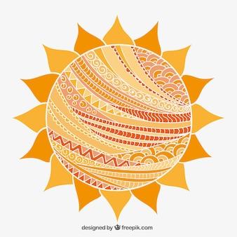 Résumé soleil dans le style arabique