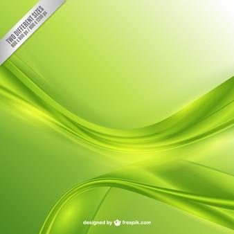 Résumé vagues de fond dans les tons verts