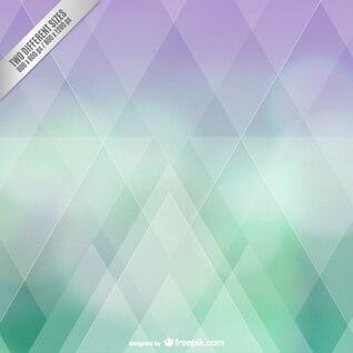 Résumé vert et fond violet