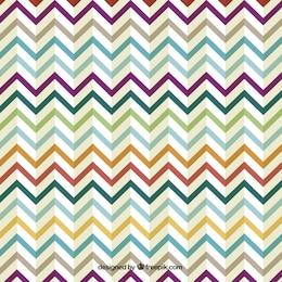 Rétro conception de zigzag coloré