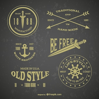 Rétro emblème tatouages