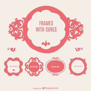 Retro frames badges mis en
