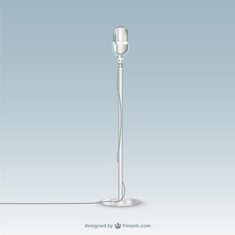 Retro microphone Metallic