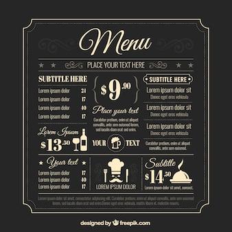 Rétro modèle de menu
