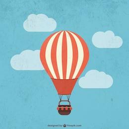 Retro montgolfière