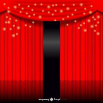 Rideau rouge incandescent