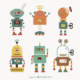 Robots illustration vectorielle