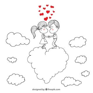Romantic couple dessin