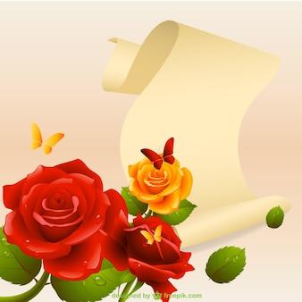 Carte romantique amour de vecteur