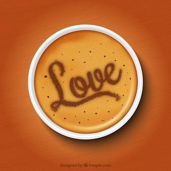 Romantique tasse de café