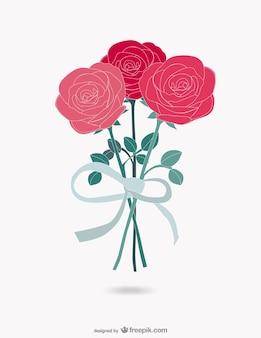 Bouquet de roses vecteur