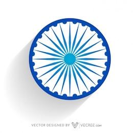 Roue de drapeau indien en bleu