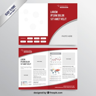 Rouge modèle de brochure