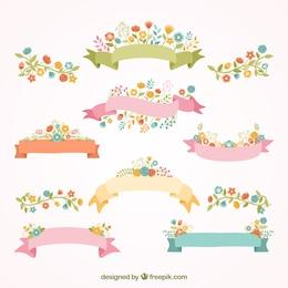 ruban de printemps bannières