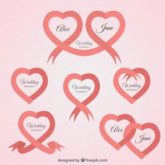 Rubans avec des formes de coeur